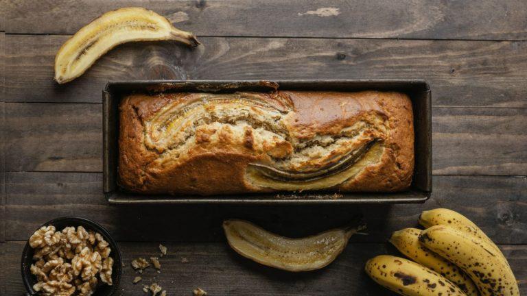bolo de banana fitness com aveia